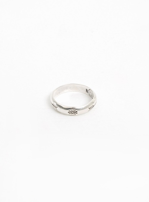 900 SILVER STAMP RING (W-024)