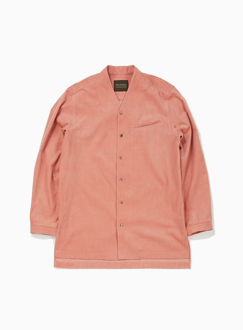 DYED CORDUROY TRIANGLE SHIRT (FLAMINGO)