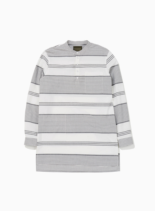 UNSTEADY STRIPES RAGMAN SHIRT (BLACK STRIPE)