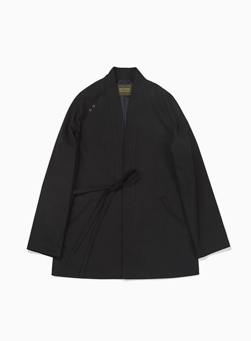 PULPY COTTON HAORI JACKET (BLACK)