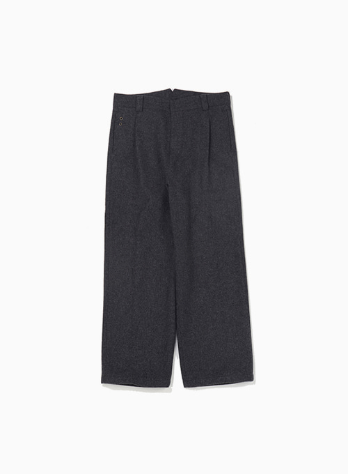 QUIET WOOL CALM PANTS (CHARCOAL GREY)