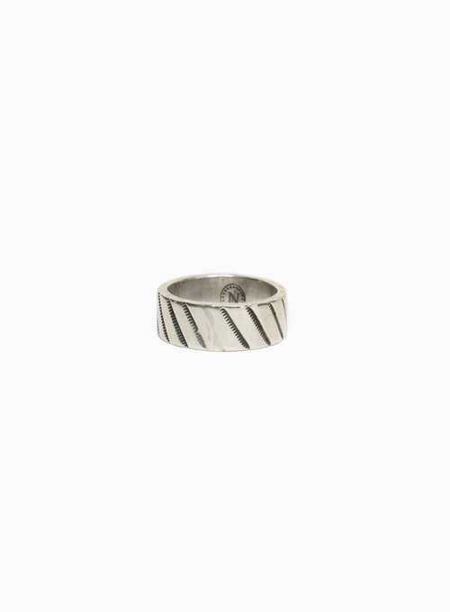 900 SILVER STAMP RING (W-051)