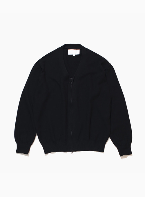 ZIPPERED CARDIGAN (BLACK)