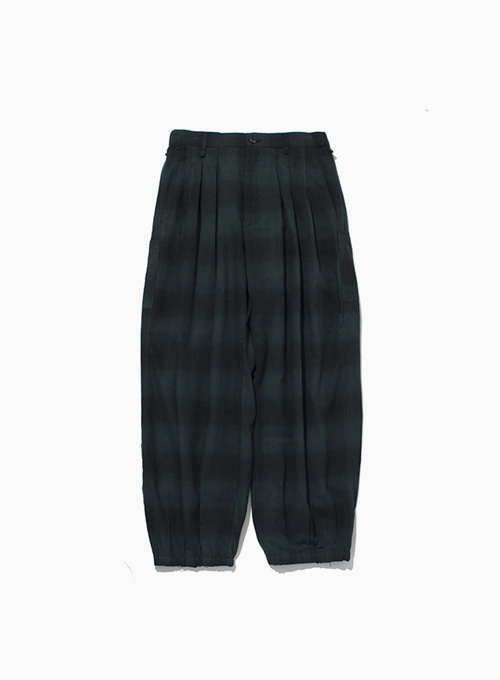 ORIENTAL HAREM PANTS (BLACK/GREEN)