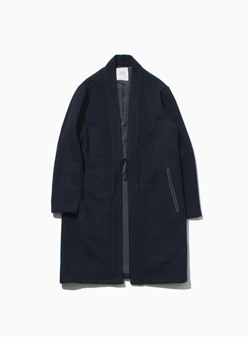 ORIENTAL WOOL COAT (NAVY)