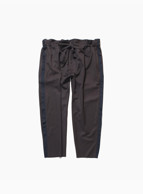 TAPERED WRAP PANTS (DARK BROWN)