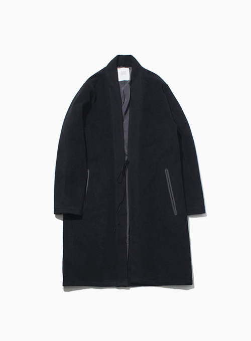 ORIENTAL WOOL COAT (BLACK)