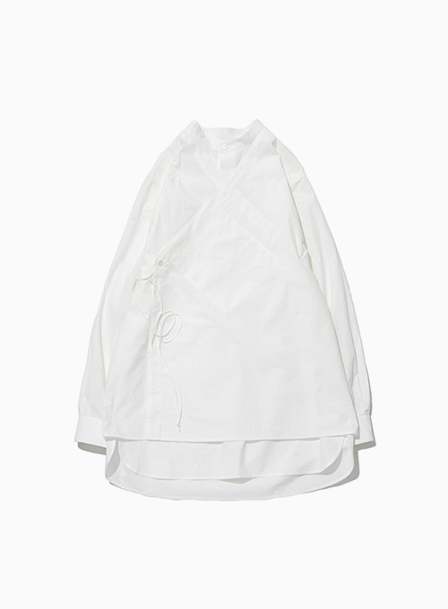 DOUBLE LAYERED TUNIC SHIRT (WHITE)