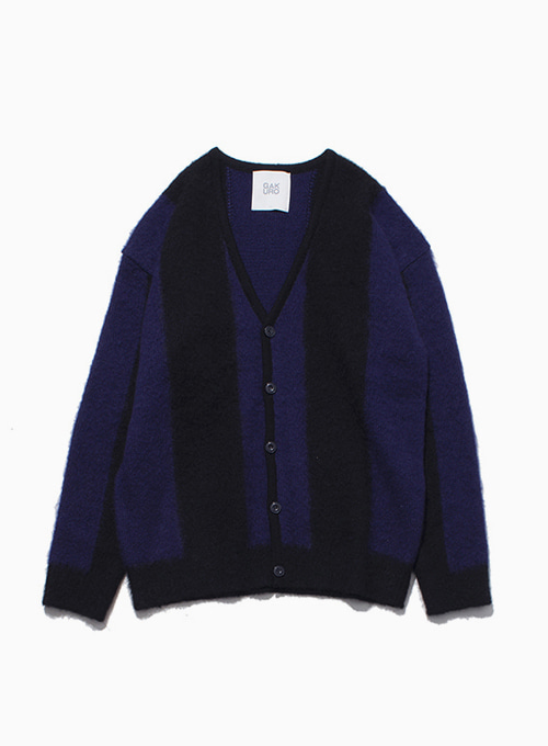 MOHAIR CARDIGAN (BLACK/PURPLE)