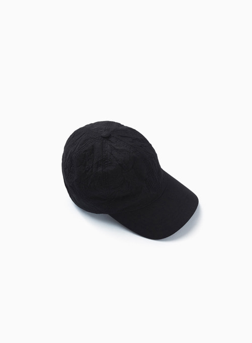 DRAWSTRING BALL CAP (BLACK)