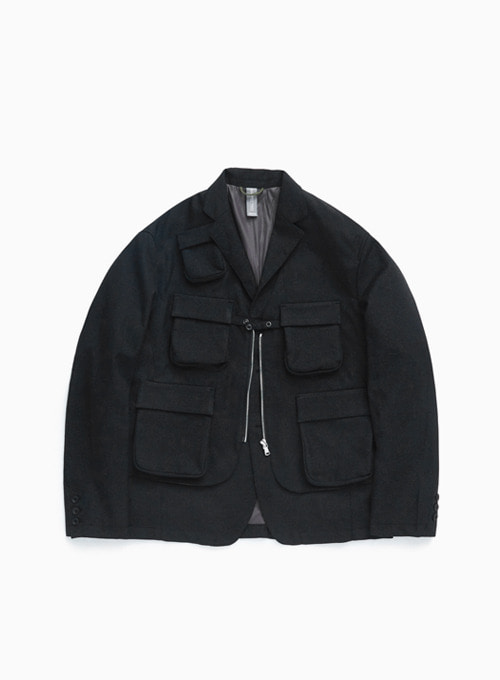 LAYERED JACKET (CHARCOAL)