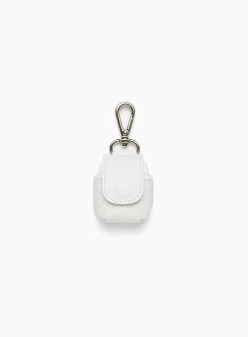 LEATHER AIRPODS CASE (WHITE)