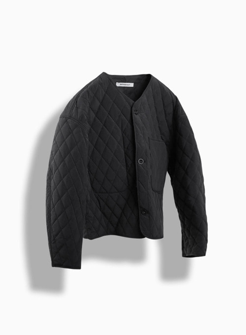 QUILTED CARDIGAN (BLACK)
