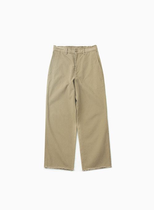 CUT OFF PANTS (BEIGE)