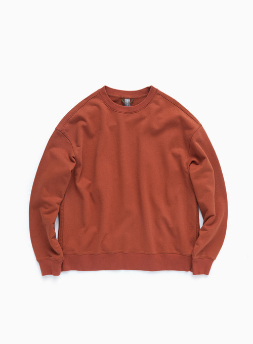 OVERSIZED SWEATSHIRT (BURNT ORANGE)