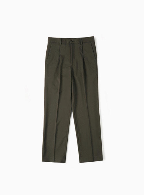 CINCH-BACK LOOSE FIT PANTS (DARK BROWN)