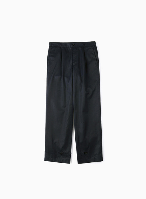 GABARDINE COTTON PANTS (NAVY)
