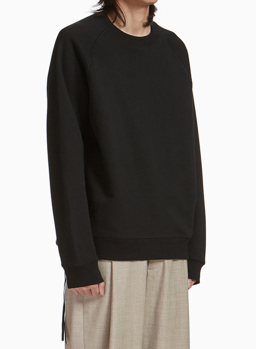 SIDE ZIP-UP SWEATSHIRT (BLACK)