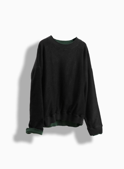 REVERSIBLE PULLOVER (BLACK/GREEN)