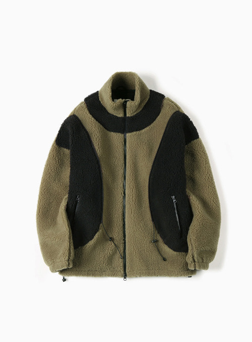 STRING FLEECE JACKET (KHAKI)