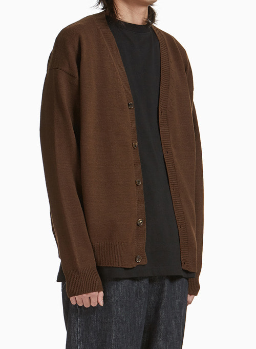OVERSIZED CARDIGAN (BROWN)