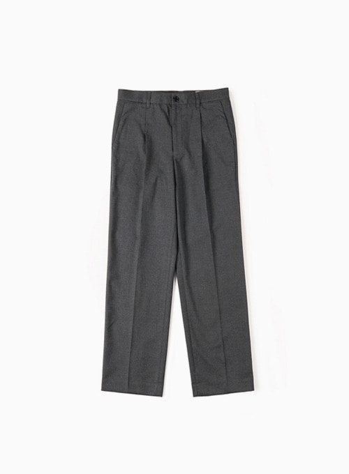 CINCH-BACK LOOSE FIT PANTS (DARK GREY)