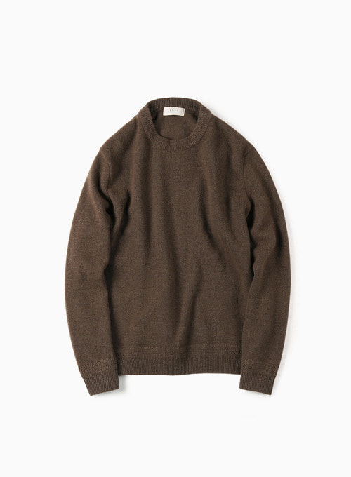 TASMANIA WOOL CASHMERE KNIT (BROWN)