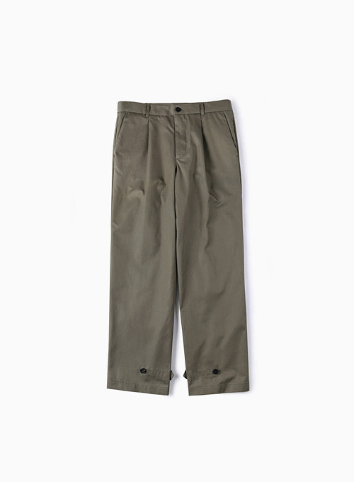 GABARDINE COTTON PANTS (KHAKI)