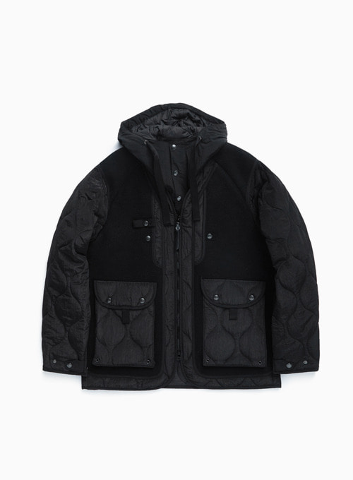 SHERPA PARKA (BLACK HEAVY MELTON)