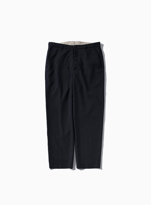 WOOL TAPERED PANTS (NAVY)[OBRITISH WOOL GABARDINE]