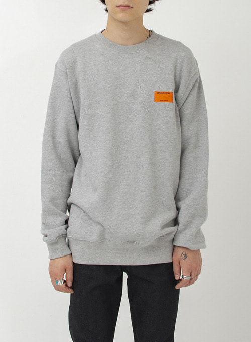 DOUBLE TAG SWEATSHIRT (GREY)