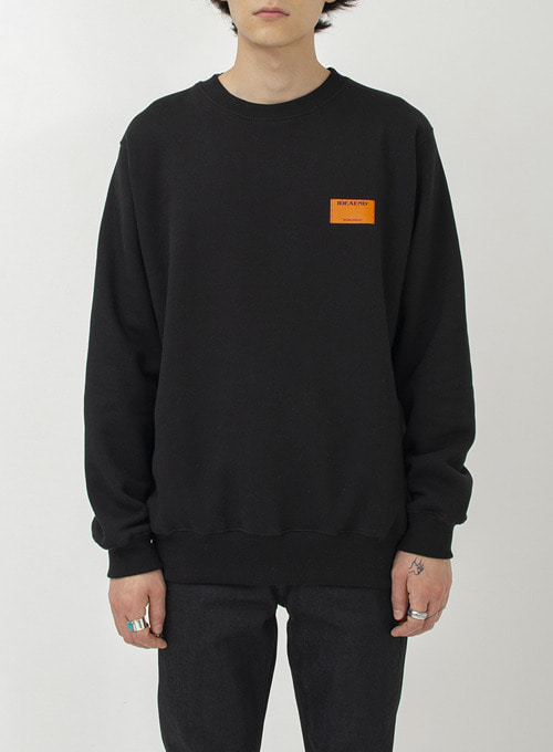 DOUBLE TAG SWEATSHIRT (BLACK)
