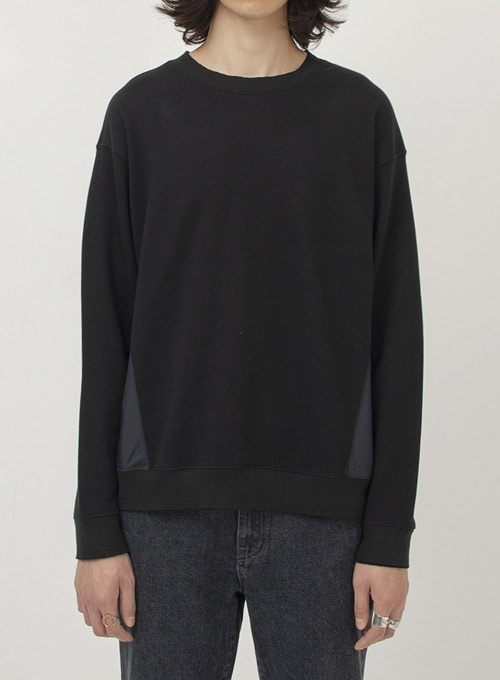 MIXED CREWNECK SWEAT (BLACK)