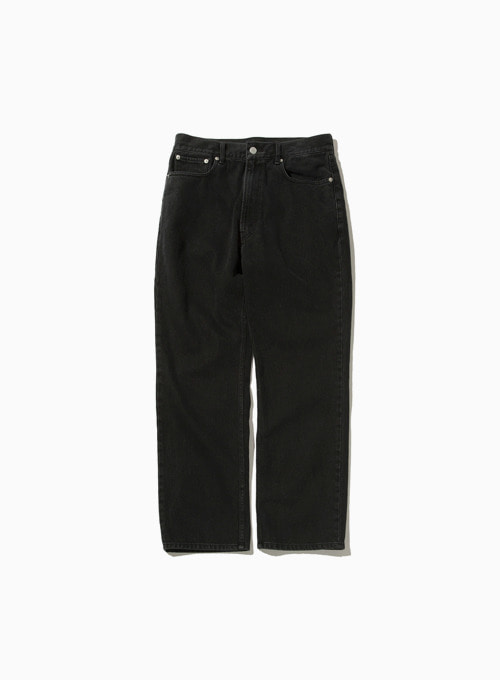 REGULAR DENIM PANTS (BLACK)