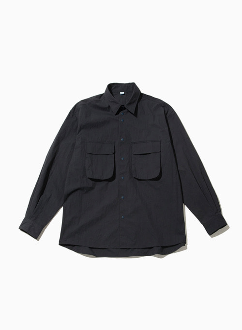 RUSTLE WIDE SHIRT (NAVY)