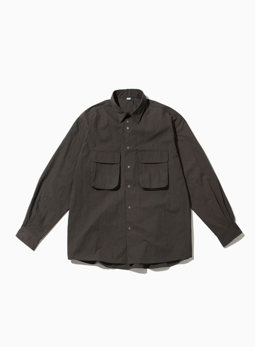 RUSTLE WIDE SHIRT (CHARCOAL)