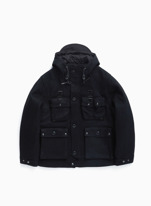 M70 PARKA (BLACK HEAVY MELTON)