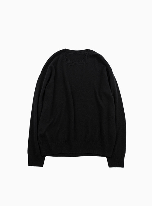 CREWNECK KNIT (BLACK)