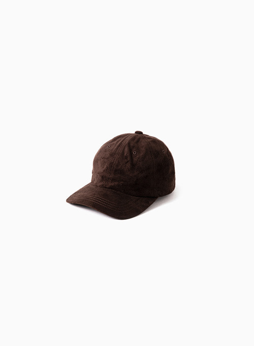 SUEDE CAP (BROWN)