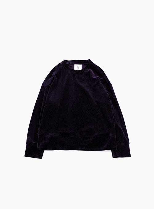WIDE VELOUR PULLOVER (DARK PULPLE)