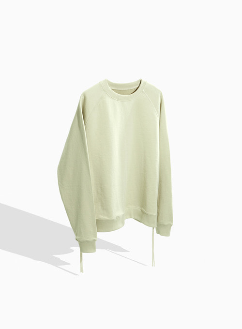 SIDE ZIP-UP SWEATSHIRT (IVORY)