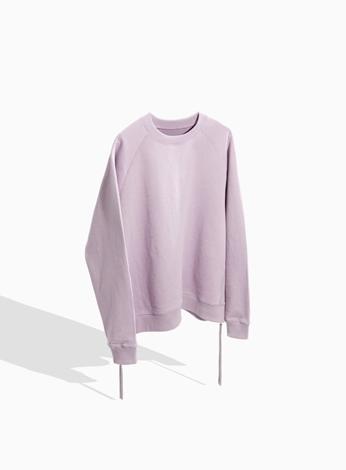 SIDE ZIP-UP SWEATSHIRT (LIGHT PURPLE)
