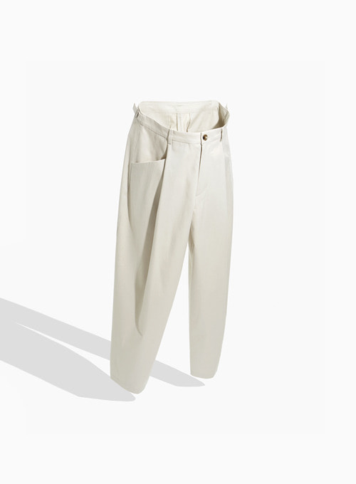 STRUCTURED WIDE PANTS (STONE)