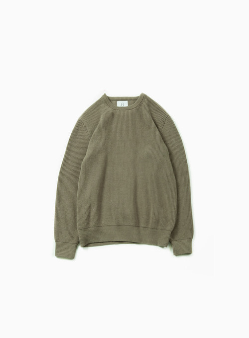 FISHERMAN SWEATER (OLIVE)