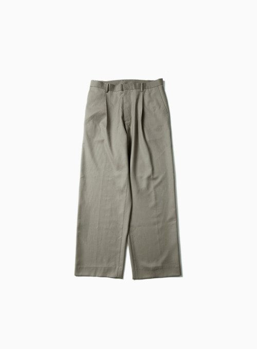 WIDE PANTS (LIGHT OLIVE)