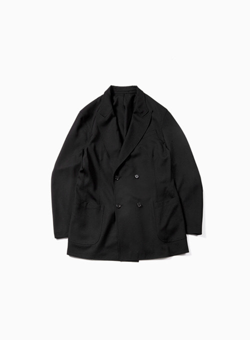 UTILITY DOUBLE BREASTED JACKET (BLACK)