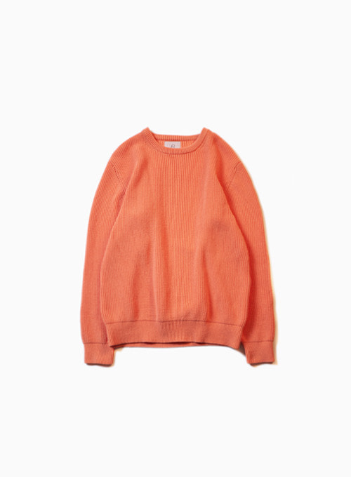 FISHERMAN SWEATER (CORAL)