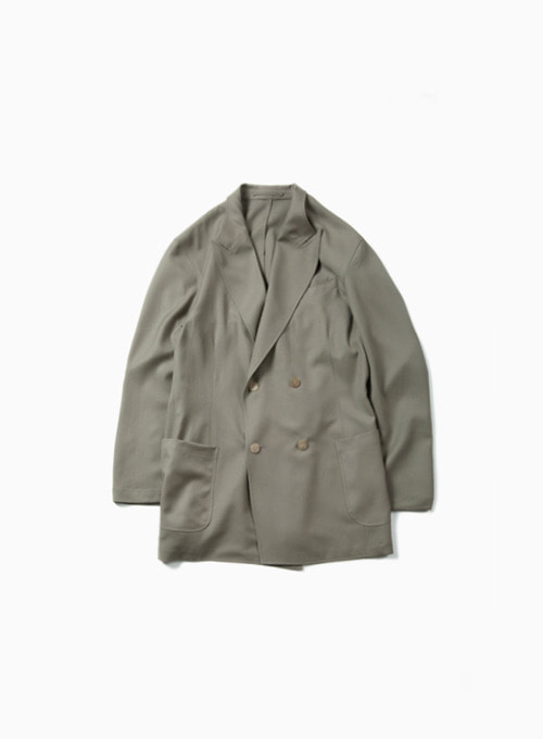 UTILITY DOUBLE BREASTED JACKET (LIGHT OLIVE)
