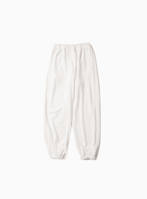 TERRY SWEAT PANTS (WHITE)