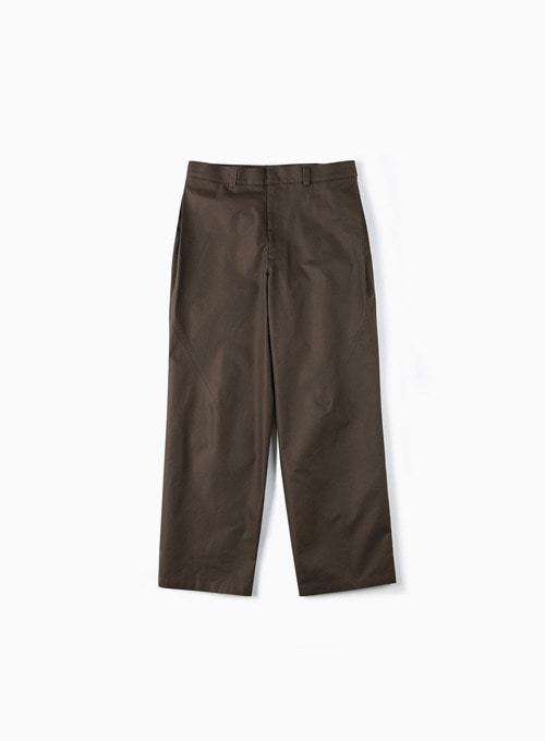SIDE TUCK WIDE PANTS (DARK BROWN)